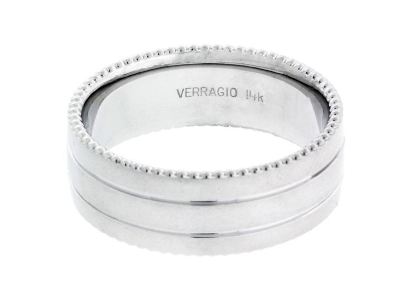 Verragio 14K White Gold Wedding Ring