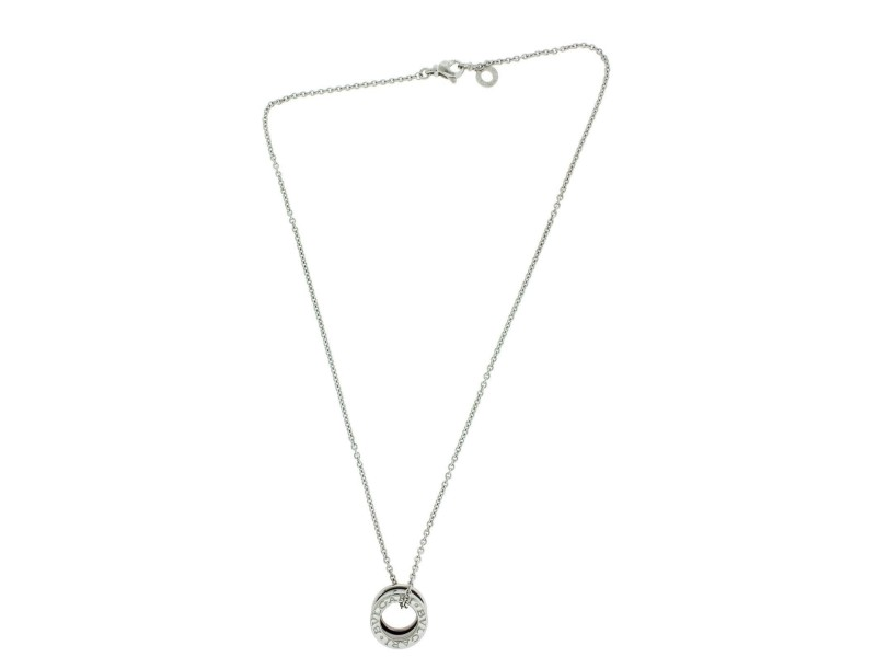 Bulgari B.Zero 1 18K White Gold Pendant Necklace