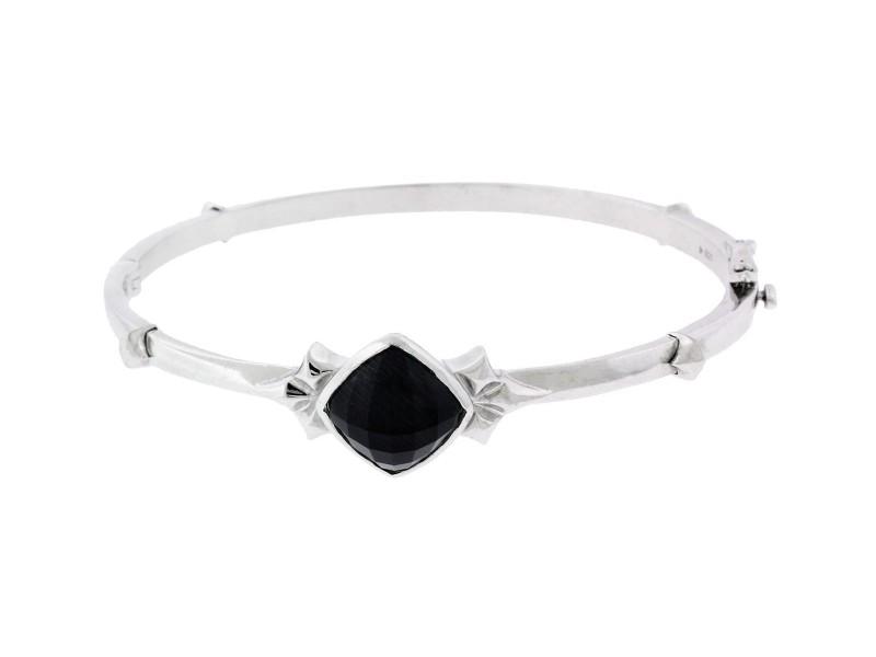 Stephen Webster 925 Sterling Silver & Crystal Haze Superstud Bangle Bracelet