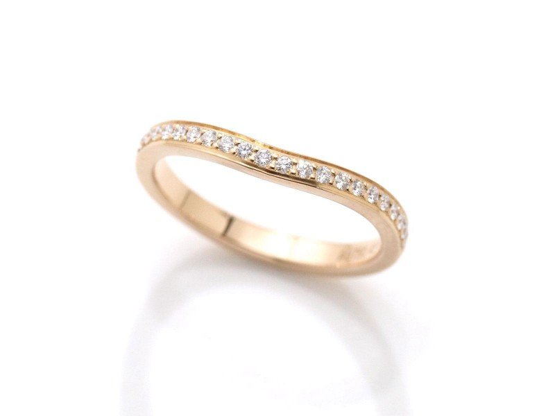 Cartier Ballerine 18K Rose Gold & Diamond Ring Size 3.25