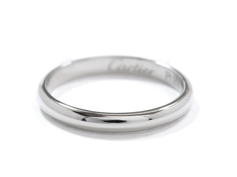 Cartier Classic Ring PT950 Platinum Size 4.5