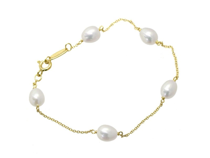 Tiffany & Co. 18K Yellow Gold Freshwater Cultured Pearl Bracelet