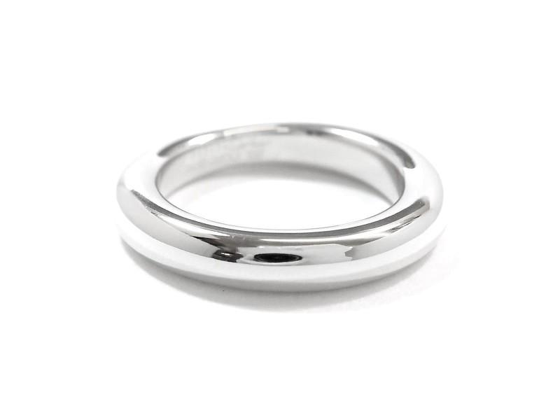 Cartier Ellipse Ring 18K White Gold Size 7.25
