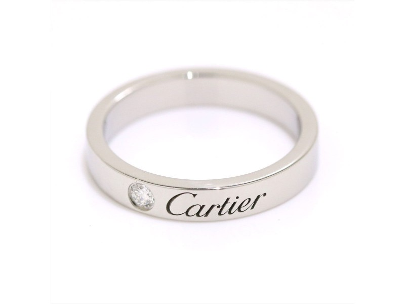 Cartier Ring Platinum with 0.03ct Diamond Size 4