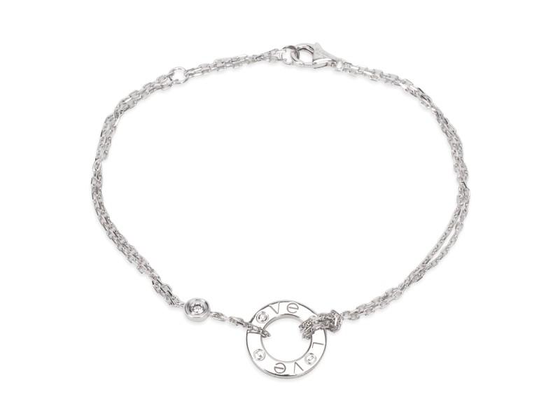 Cartier Love Bracelet 18K White Gold Diamond