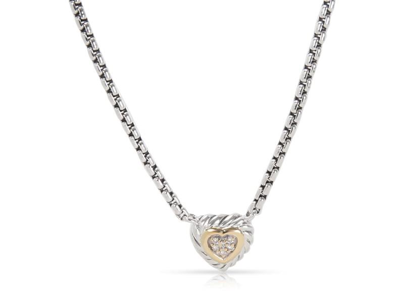 David Yurman 18K Yellow Gold Sterling Silver Diamond Necklace