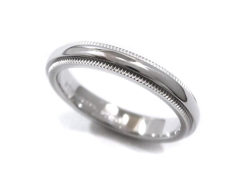 Tiffany & Co. Milgrain 950 Platinum Band Ring Size 3.5