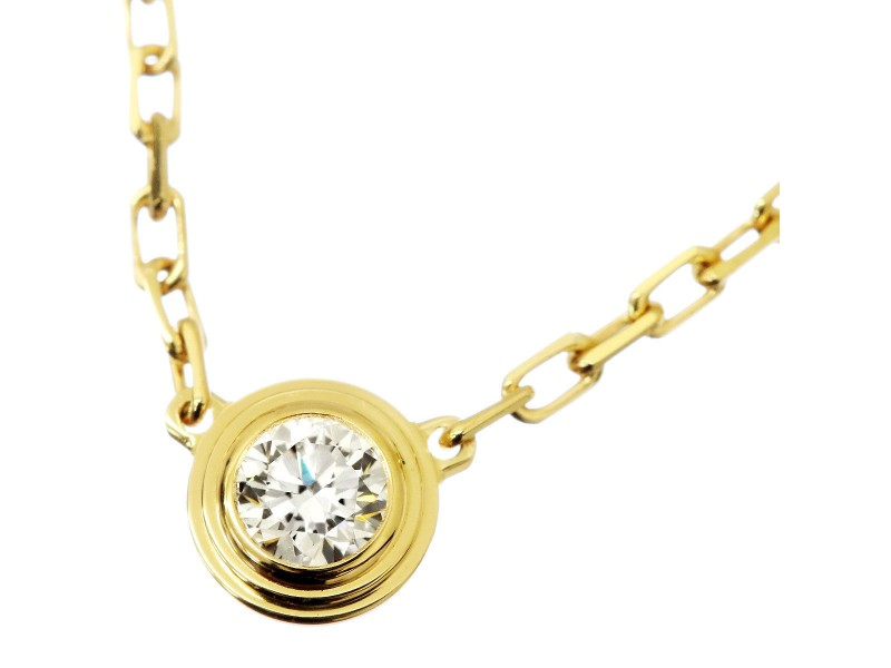 Cartier Diamants Legers Necklace 18K Yellow Gold Diamond