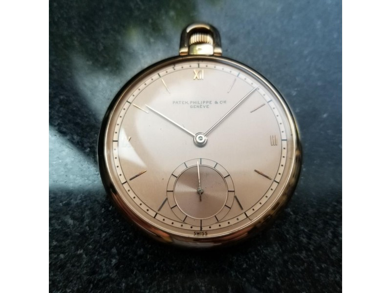 Patek Philippe Geneve LV366 Vintage 46mm Mens Pocket Watch