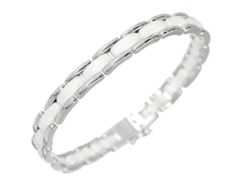 Chanel Ultra 18K White Gold Ceramic Bracelet