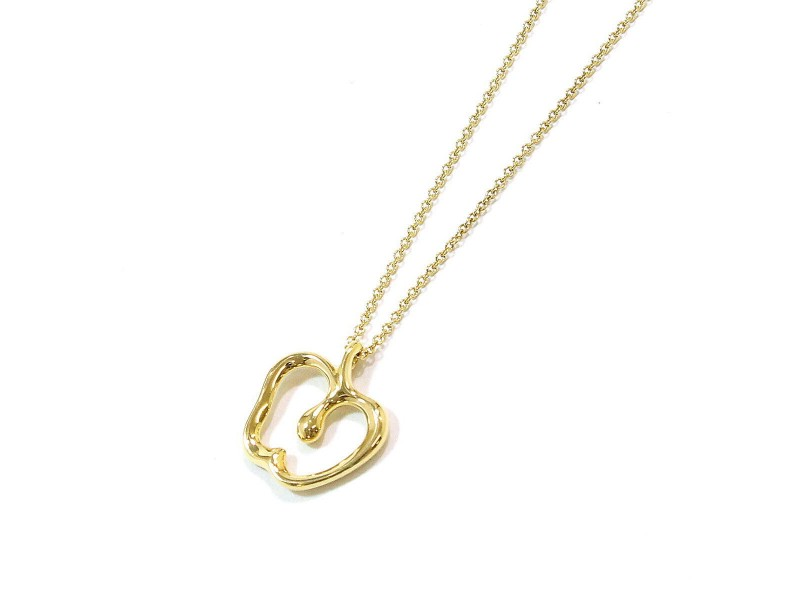 Tiffany & Co. Apple Motif 18K Yellow Gold Necklace