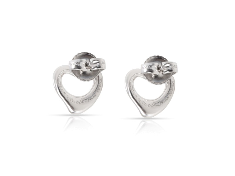 caea08618 Tiffany & Co. Elsa Peretti OPen Heart Earring In Sterling Silver ...