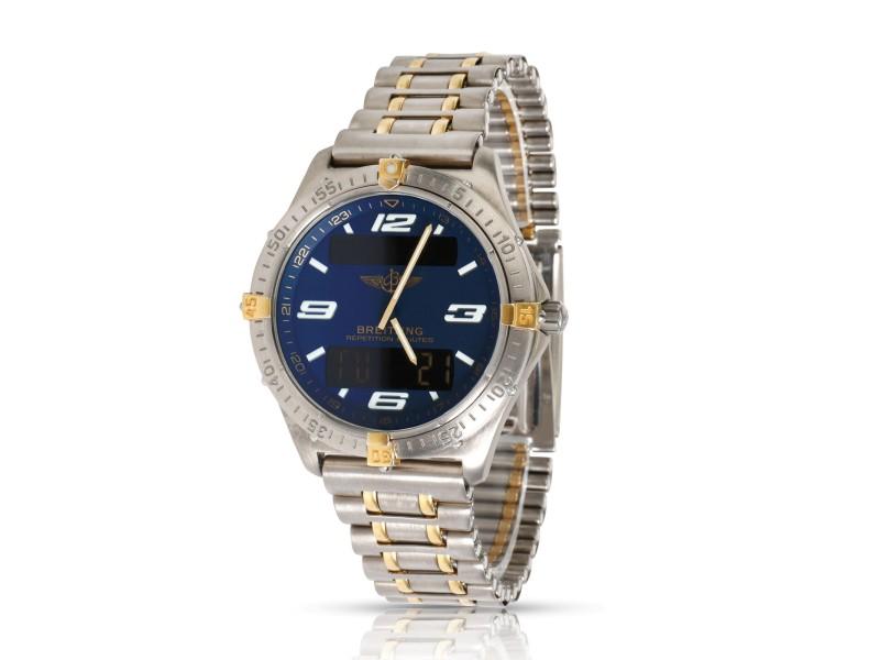Breitling Aerospace F6536210/C293 Men's Watch in  Titanium/Yellow Gold