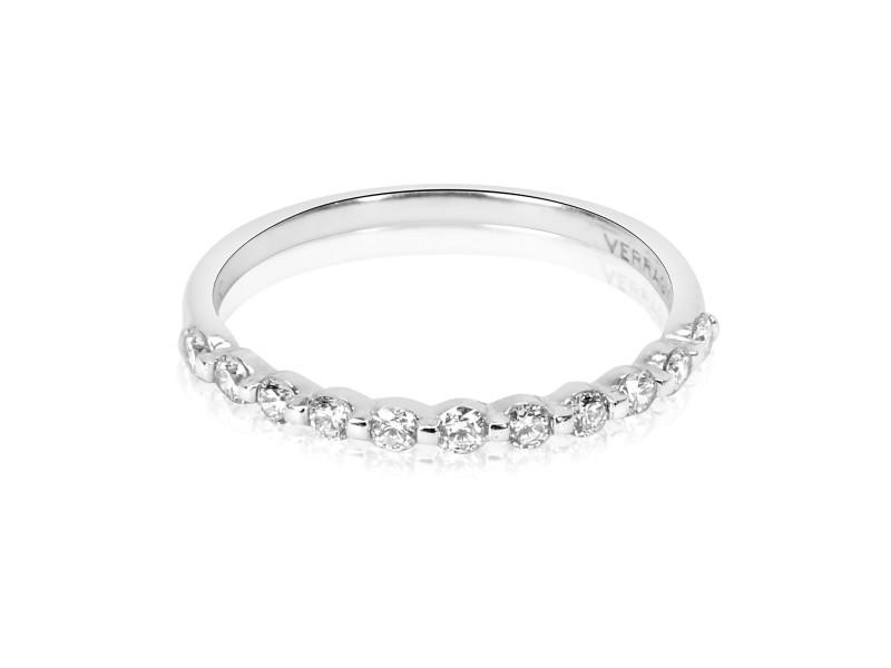 Verragio Single Prong Diamond Wedding Band in 18K White Gold