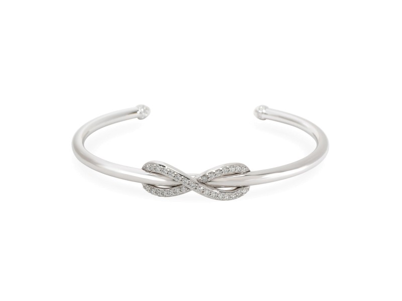 Tiffany & Co. Infinity Diamond Cuff in 18K White Gold 0.39 CTW
