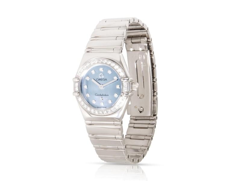 Omega Constellation 1165.77.00 Women's Watch in 18kt White Gold