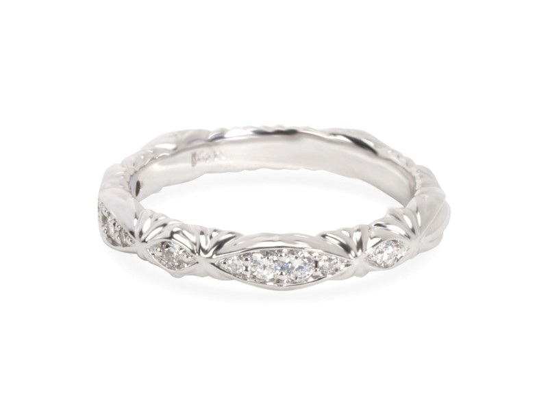 James Allen Ribbon Diamond Band in 14K White Gold 0.1 CTW
