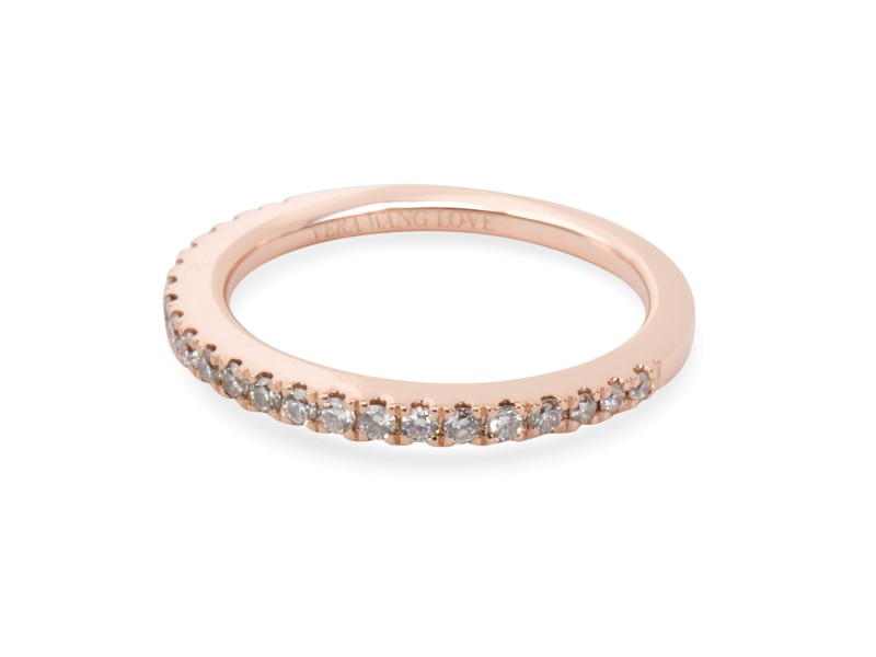Vera Wang Love Collection Diamond Wedding Band in 14K Rose Gold 0.25 CTW