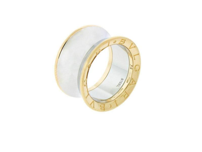 Bvlgari B.ZERO1 Anish Kapoor ring in 18k rose gold & steel size 51
