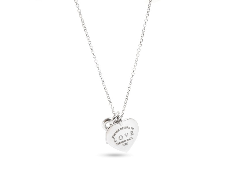 Tiffany & Co. Return to Tiffany Diamond Necklace in 18K White Gold 0.2 CTW