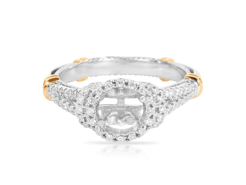 Verragio Parisian Diamond Engagement Ring Setting in 14K 2 Tone Gold 0.33ctw