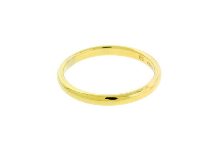 BVLGARI 2.5 mm wide band ring in 18k yellow gold size 9.75