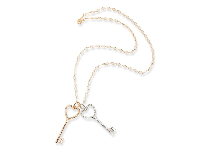 Tiffany & Co. Rope Keys Necklace in Rose Gold/Sterling Silver