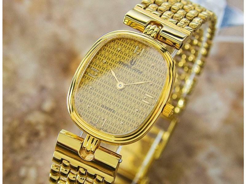 Universal Geneve 523.612 20mm Stainless Gold Pltd Quartz 2000s Ladies Watch L61