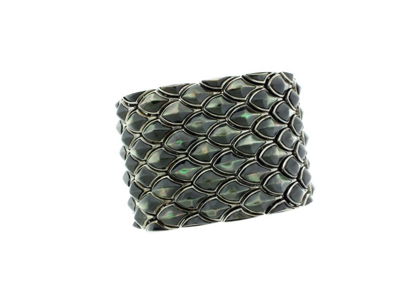 Stephen Webster Superstud 5 row black Mother of pearl inlay bracelet