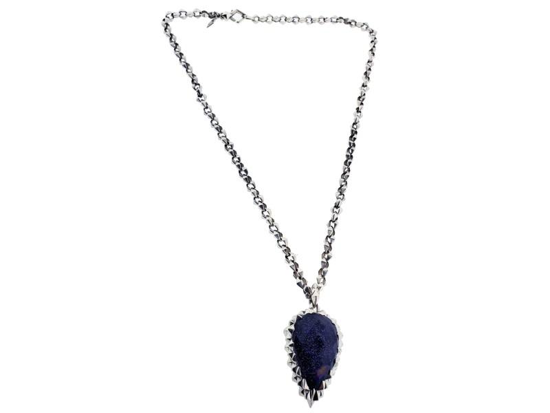 Stephen Webster Superstud Dagger Pendant with Blue Goldstone Crystal Haze