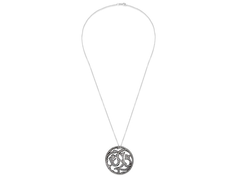 BRAND NEW Diamond Slide Pendant in 18k White Gold with Chain (2.13 CTW)