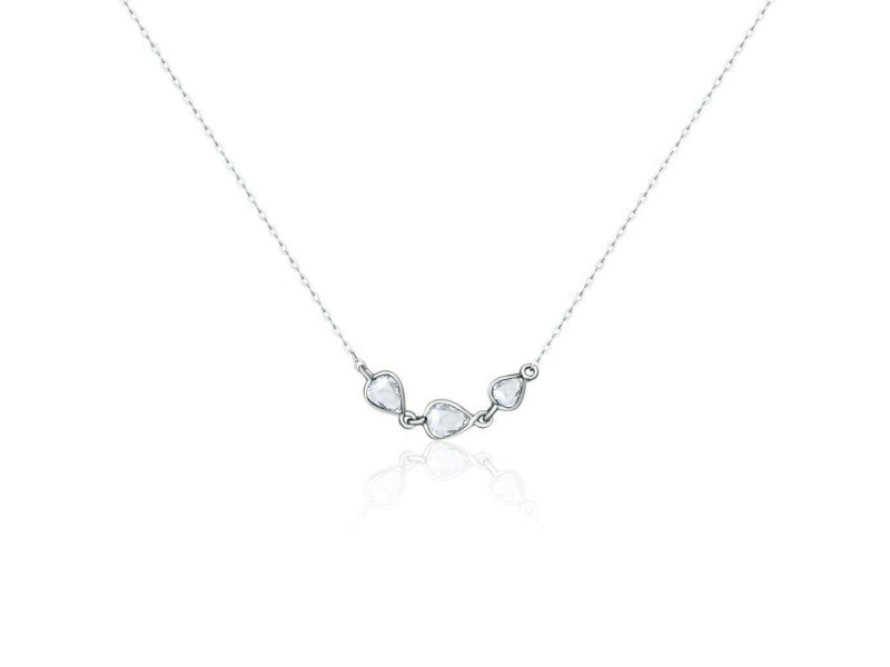 Rock & Divine Dawn Collection River Of Pears Diamond Necklace 18K Gold 0.19CTW