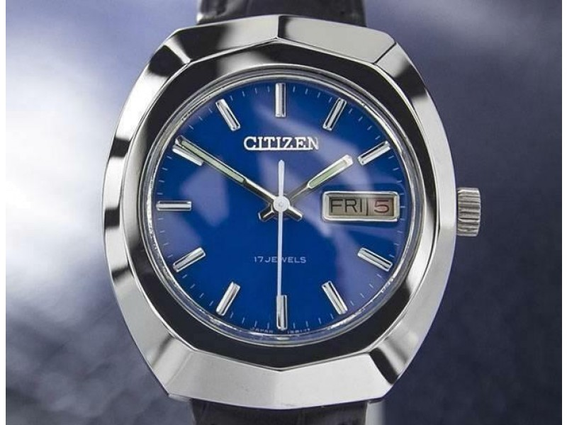 Mens Citizen 37mm Day Date Manual Wind Watch, c.1970s Vintage J7074