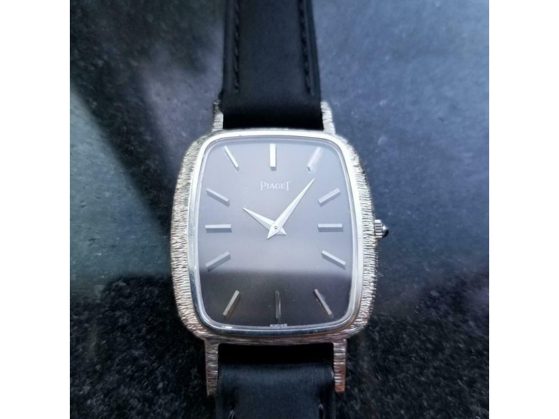 Mens Piaget cal.9P2 29mm Solid 18k White Gold Hand-Wind, c.1970s Swiss LV852