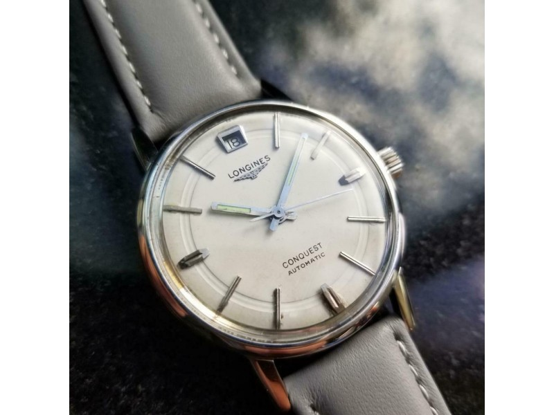 Mens Longines Conquest Ref.9024 35mm Date Automatic, c.1960s Vintage LV592GRY