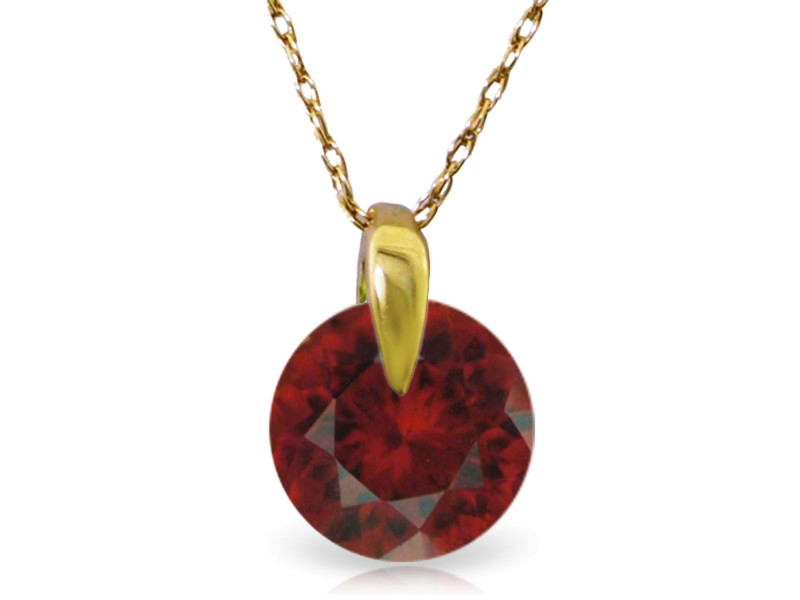 1 CTW 14K Solid Gold Staggering Beauty Garnet Necklace