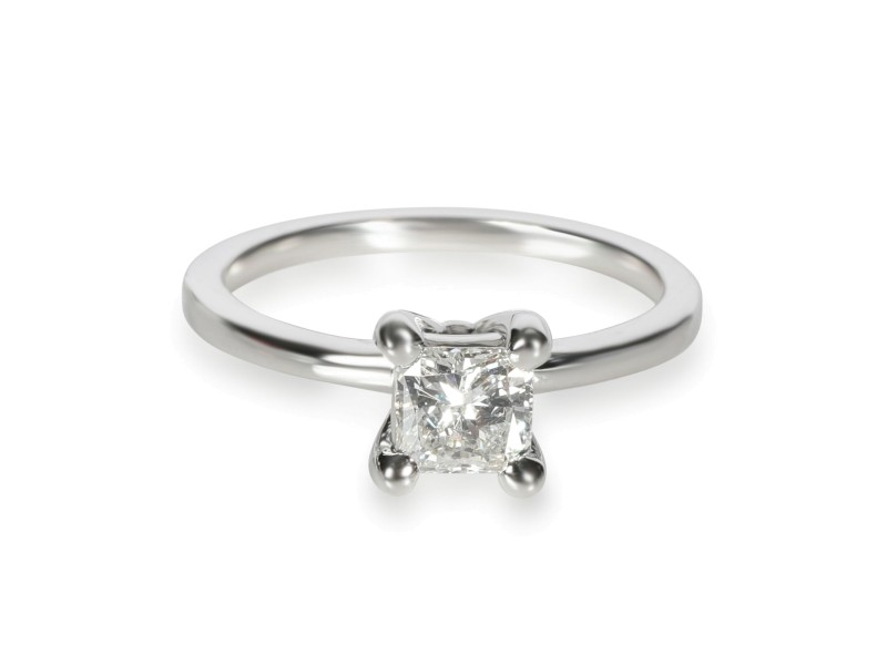 GIA Certified Radiant Diamond Engagement Ring in 14KT White Gold H VS1 0.60 CT