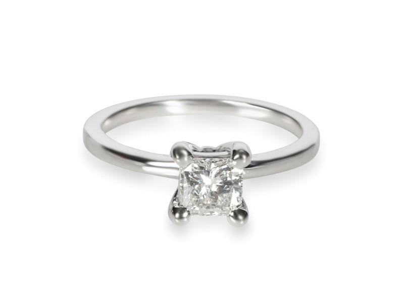 GIA Certified Radiant Diamond Engagement Ring in 14KT White Gold E VVS1 0.61 Ct