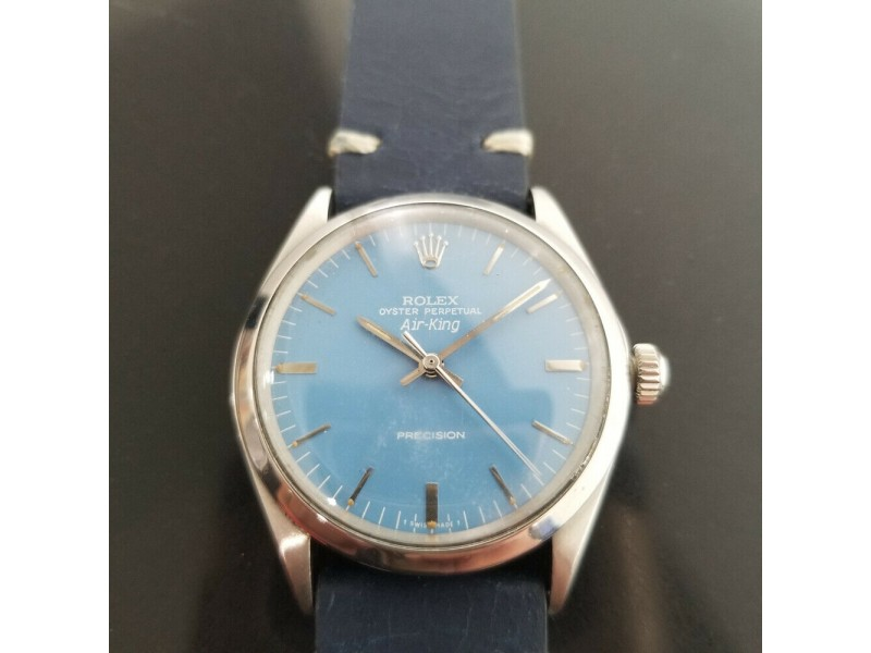 "Mens Rolex Oyster Precision ""Air-King"" Ref.5500 34mm Automatic, c.1970s RA116BLU"