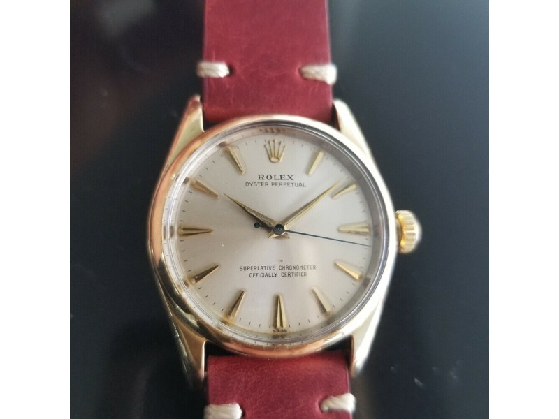 Mens Rolex Oyster perpetual 1014 34mm Gold-Capped Automatic, c.1960s RA142RED