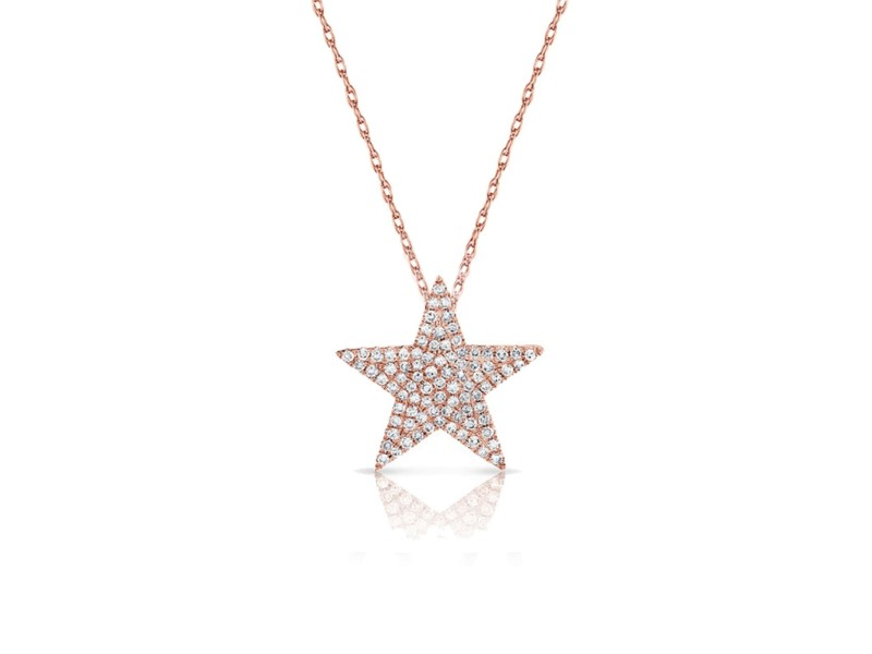 Diamond Star Necklace in 14KT Rose Gold 0.31ctw