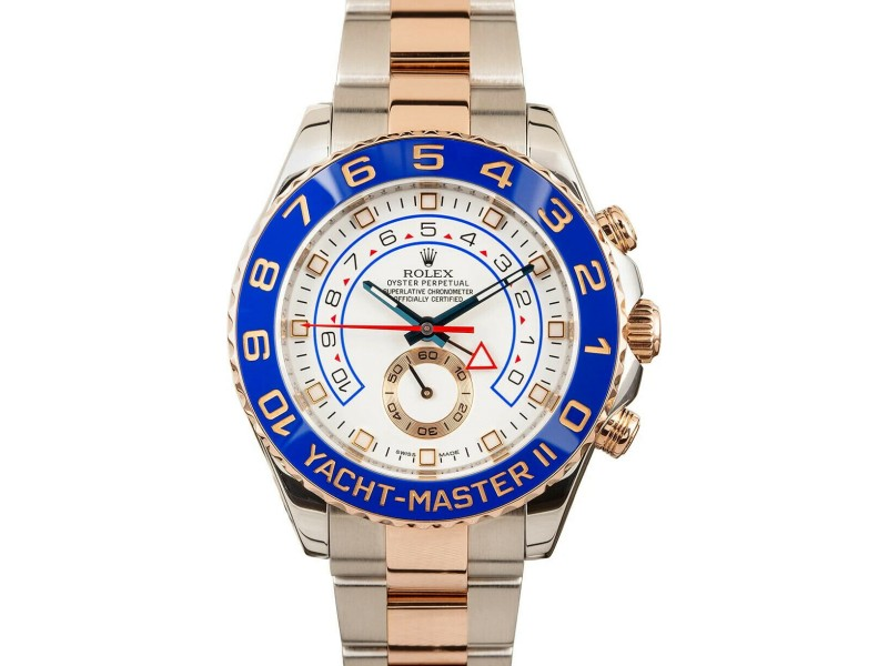 Rolex Yacht Master II Stainless Steel Rose Gold 116681 Regatta w/tag Card RC200