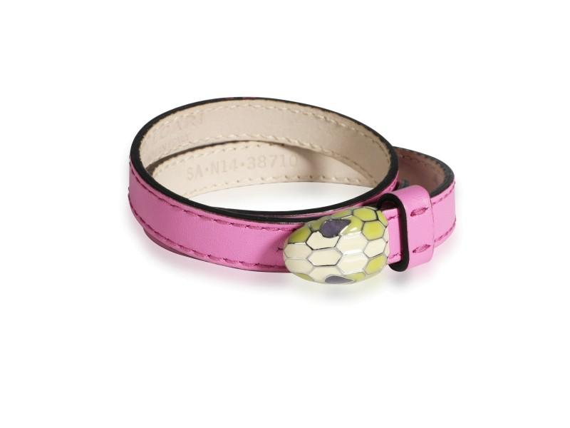 Bulgari Serpentini Forever Bracelet in Pink Leather