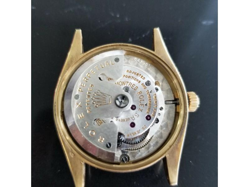 Mens Rolex Oyster Perpetual Ref.6564 34mm 14k Gold Automatic, c.1950s RA150BLU