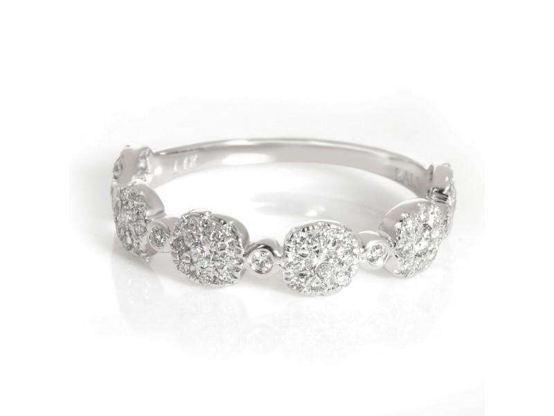 Diamond Cluster Ring 14K White Gold 0.40 ctw