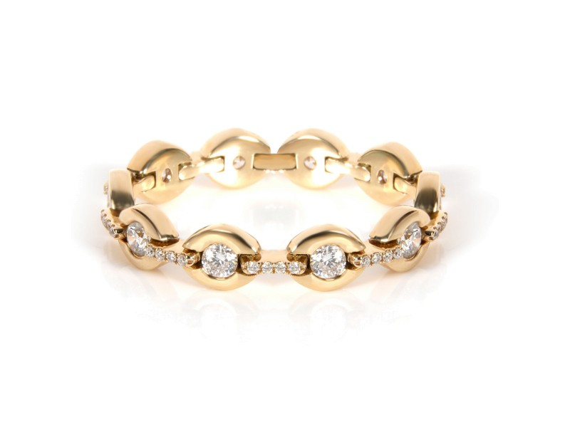 Diamond Link Ring 14K Yellow Gold 0.51ctw