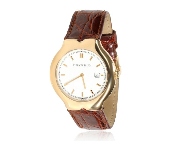 Tiffany & Co. Tesoro M0130 Unisex Watch in 18kt Yellow Gold