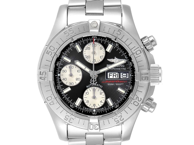 Breitling Superocean Chronograph Steel Mens Watch A13340 Box Papers