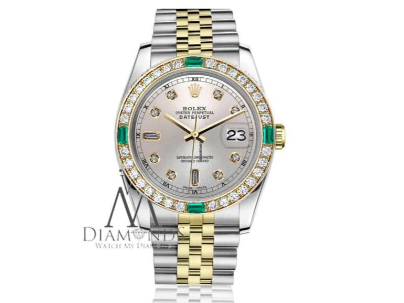 Rolex 26mm Datejust Vintage Diamond Bezel Womens Watch