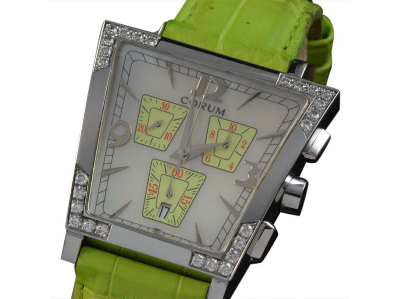 Corum 196.405.47 Trapeze Diamond Chronograph Mother of Pearl Dial Unisex Watch